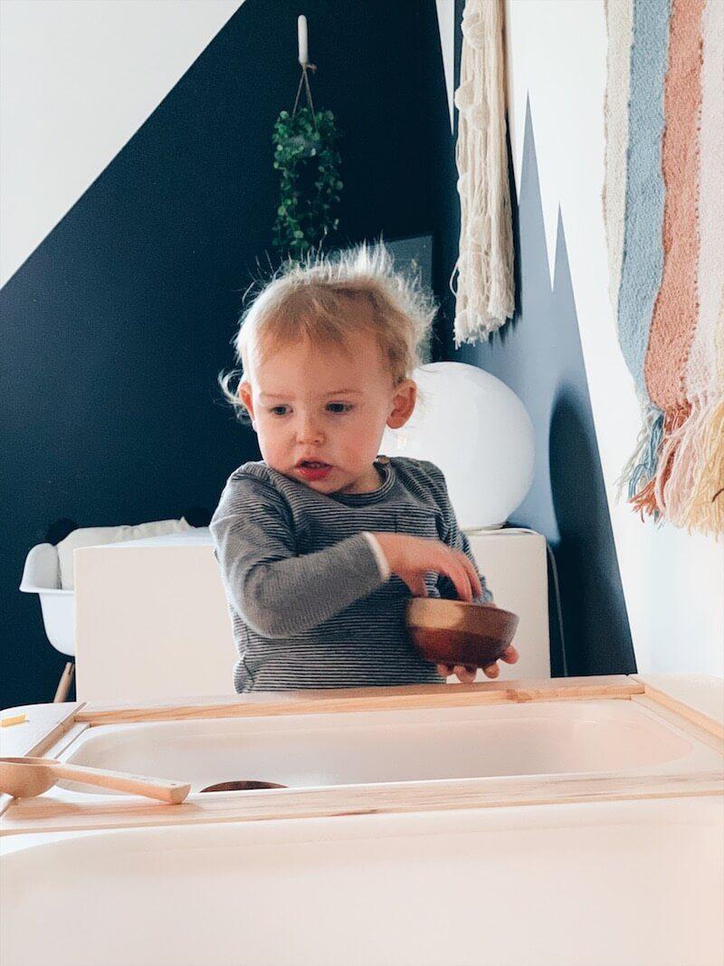 sensory tafel - tafel voor sensopatisch spel - unicorns & fairytales