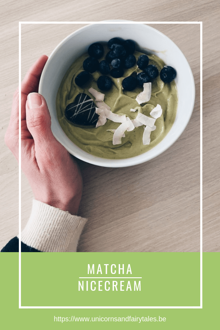 matcha nicecream bowl - unicorns & fairytales