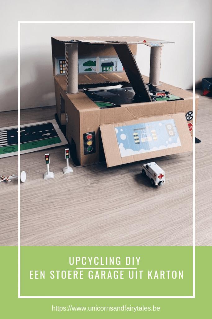 DIY garage uit karton maken - unicorns & fairytales