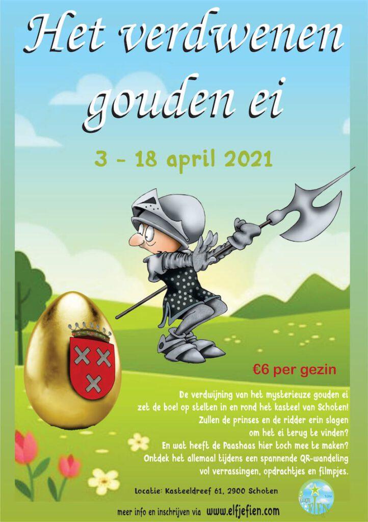 flyer qr wandeling ridder en prinses 2 722x1024 - Coronaproof Activiteiten in de Paasvakantie met kinderen