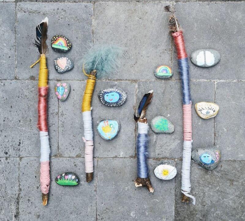 Krachtstokken en stenen - Vertelstenen zelf maken en hoe je ze kunt inzetten voor verschillende thema's