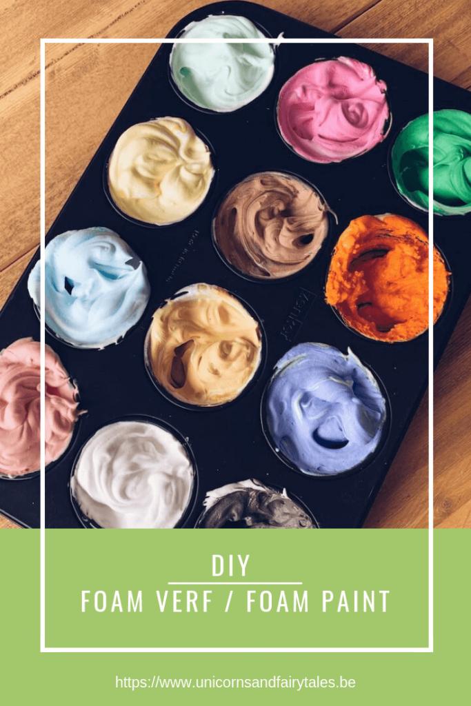 DIY fluffy verf foam paint - unicorns & fairytales