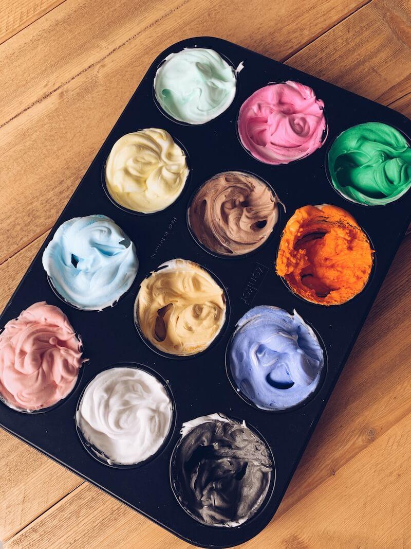 DIY Foam verf foam paint - unicorns & fairytales