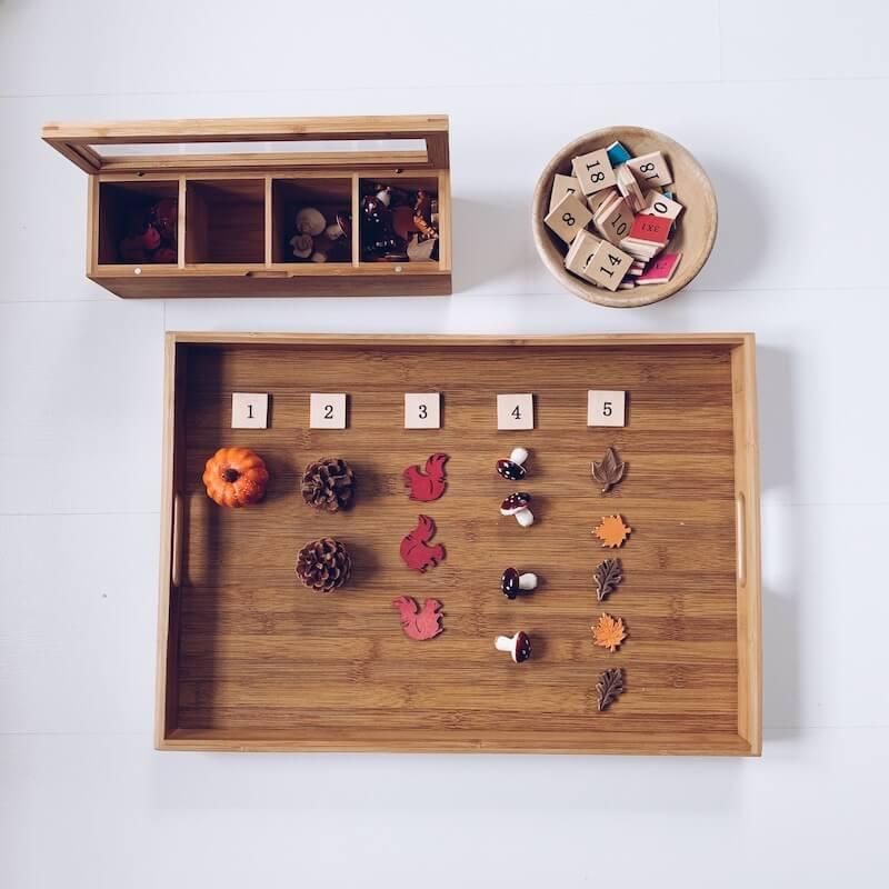 04F89B4F B424 4D8D 9675 72D4B88826DE - Leren tellen tot 10 met deze speelse activity trays met als thema herfst