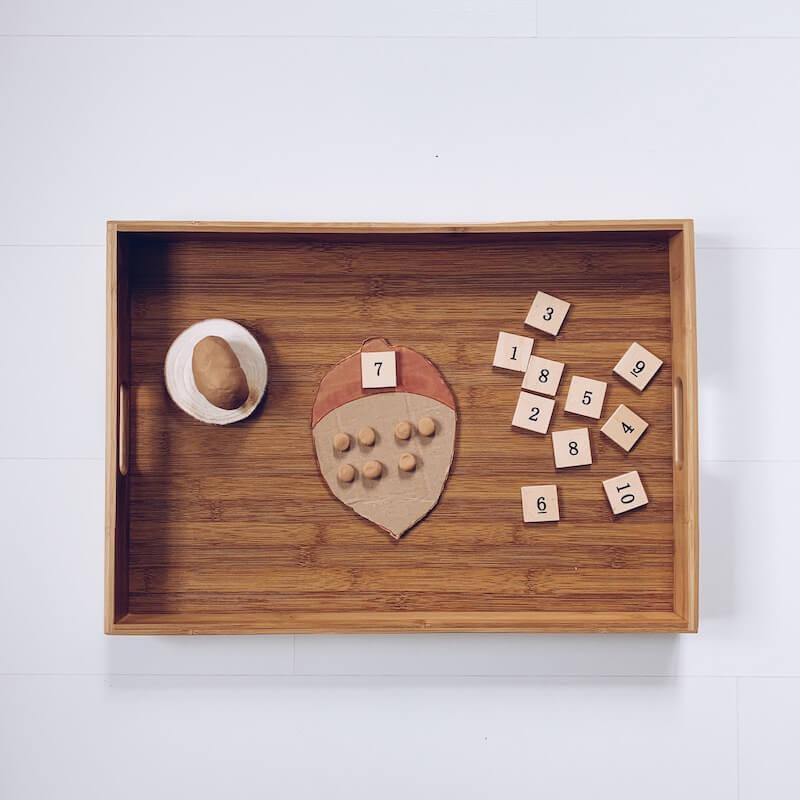 BC49FEA9 64C8 4D64 87E0 0CED5C4BC7CA - Leren tellen tot 10 met deze speelse activity trays met als thema herfst