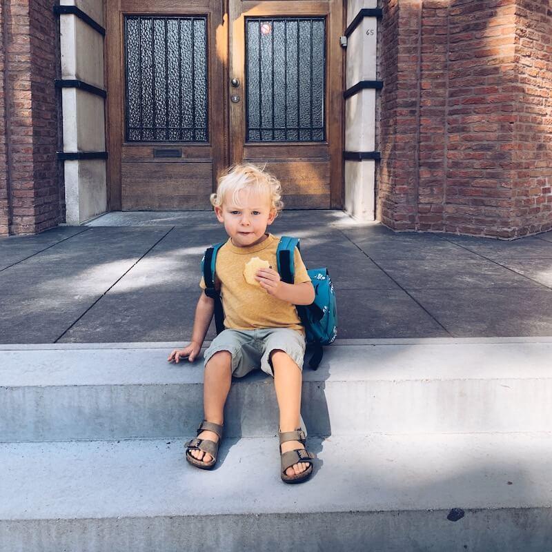 IMG 5723 - De allereerste schoolweek van Lex zit erop