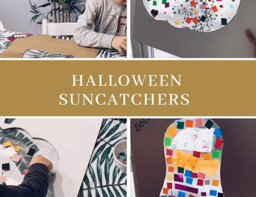 Halloween suncatcher maken - unicorns & fairytales