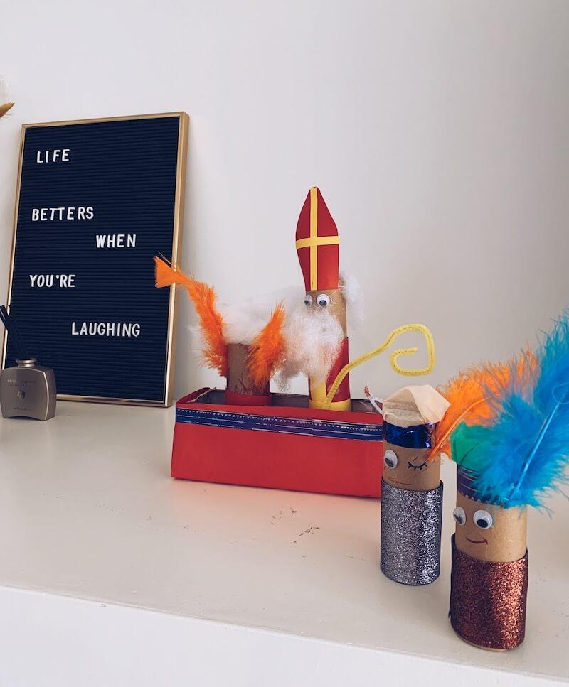 Sinterklaas knutselen met wc-rolletjes - unicorns & fairytales