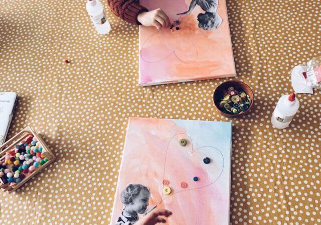 57491AE3 746D 41E5 BED0 4BAFC94A9749 640x450 - Een liefdevolle canvas knutselen voor Valentijn of moederdag/vaderdag