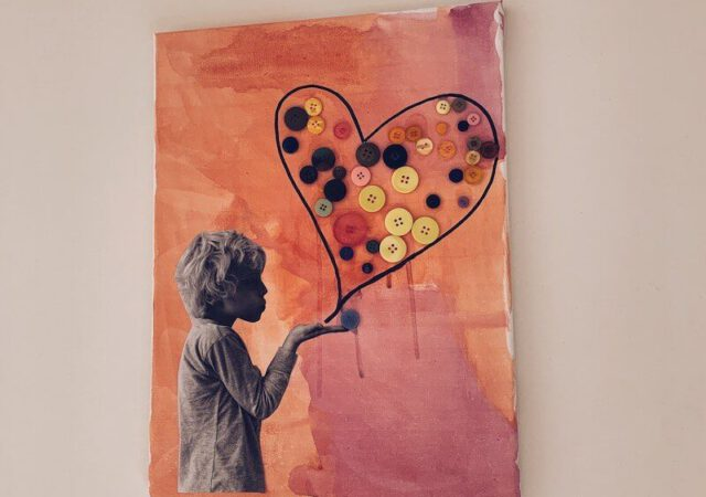 6FF55849 D27F 4E5D 9D20 221AE0B7E477 640x450 - Een liefdevolle canvas knutselen voor Valentijn of moederdag/vaderdag
