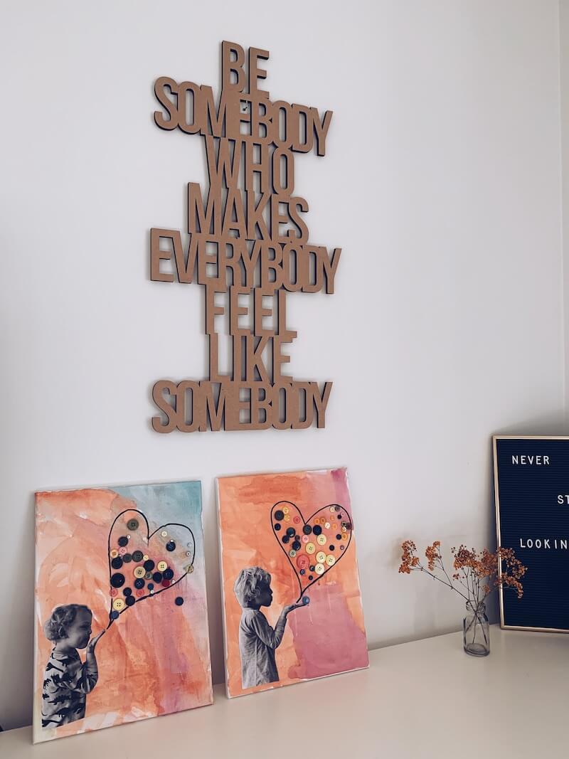 canvas schilderen Valentijn - unicorns & fairytales
