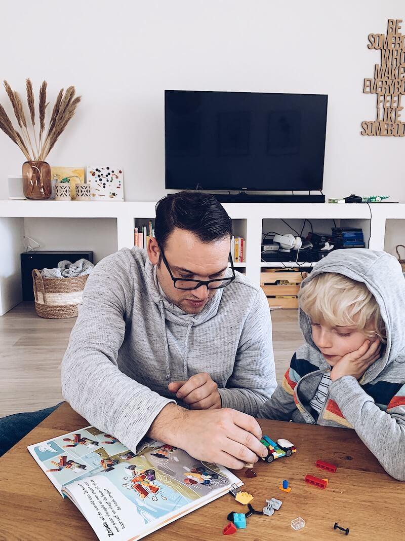 bedenk en speel boek LEGO - unicorns & fairytales