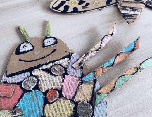 kartonnen insecten - knutselen met recyclagemateriaal - unicorns & fairytales