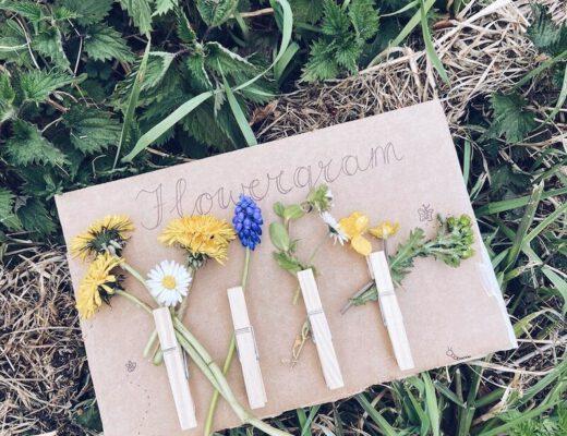 Flowergram maken met kinderen - unicorns & fairytales