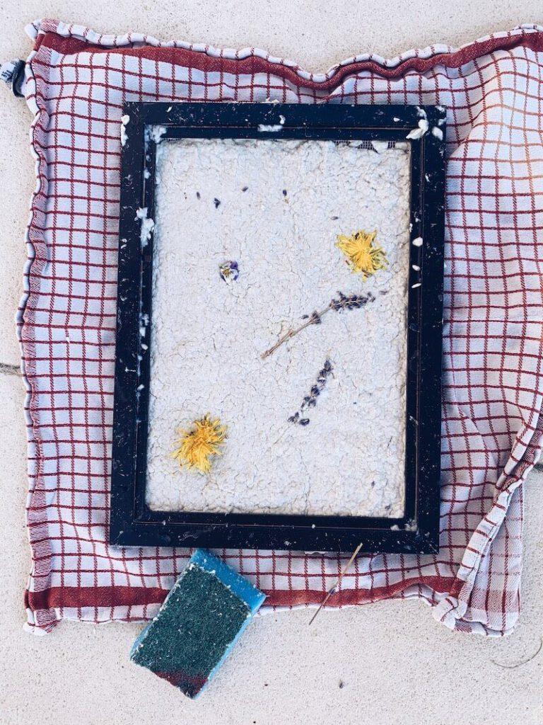 B8B1938B 2A6C 4DF9 B3D0 A8A054FB86C4 768x1024 - DIY // Zelf papier maken met zaadjes of bloemen erin!