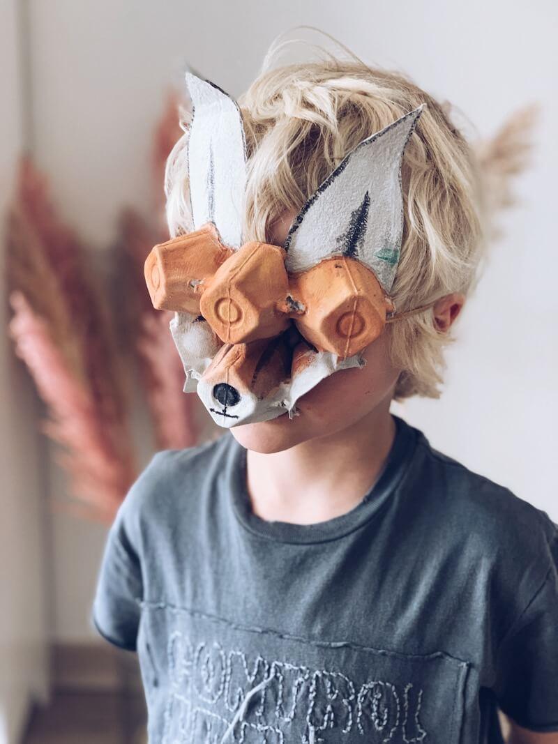 masker van een eierdoos - unicorns & fairytales