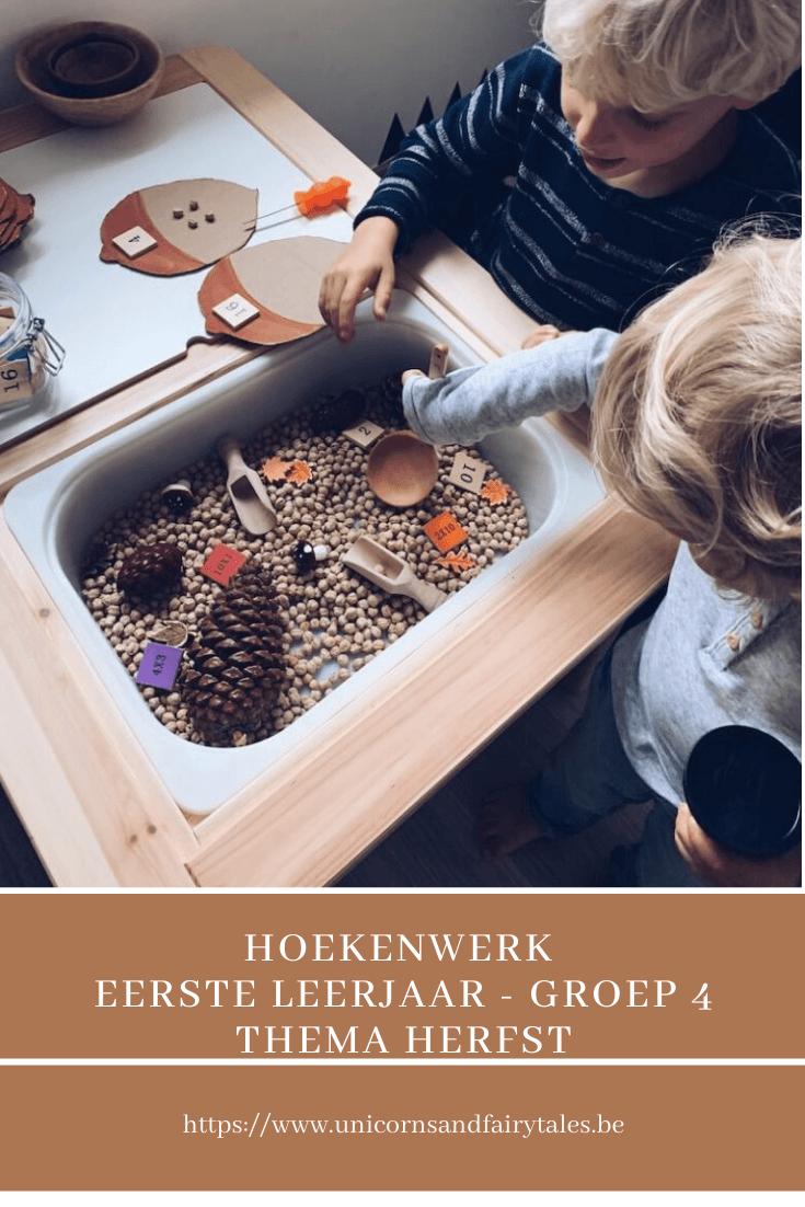 hoekenwerk eerste leerjaar - unicorns & fairytales