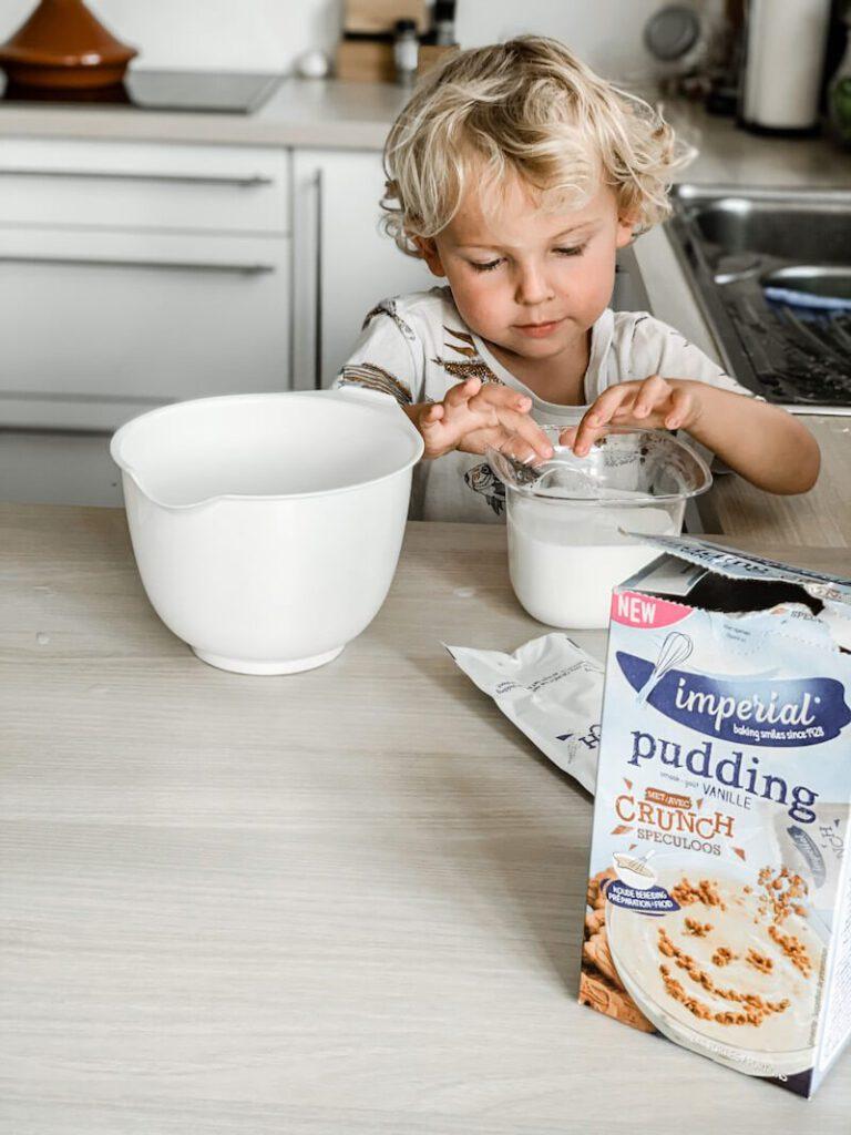 IMG 0044 768x1024 - Pudding zonder koken? Jawel! Kleine kinderen kunnen meehelpen