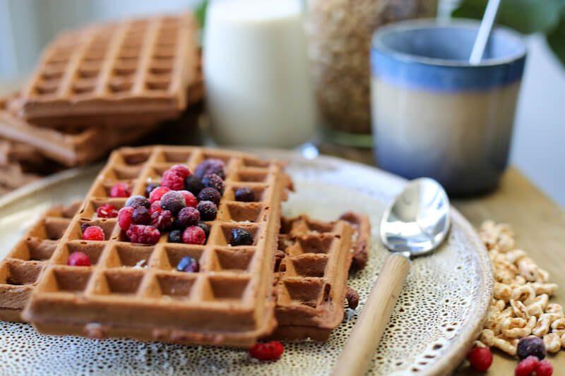chocolade vega wafels3 - Lekkers om mee in de lunchbox te steken