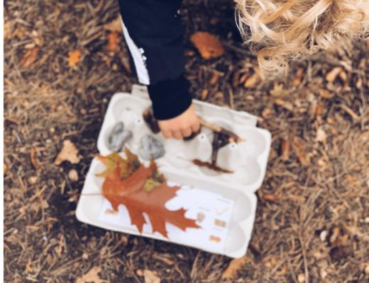 herfst schattentocht met eierdoos - unicorns & fairytales