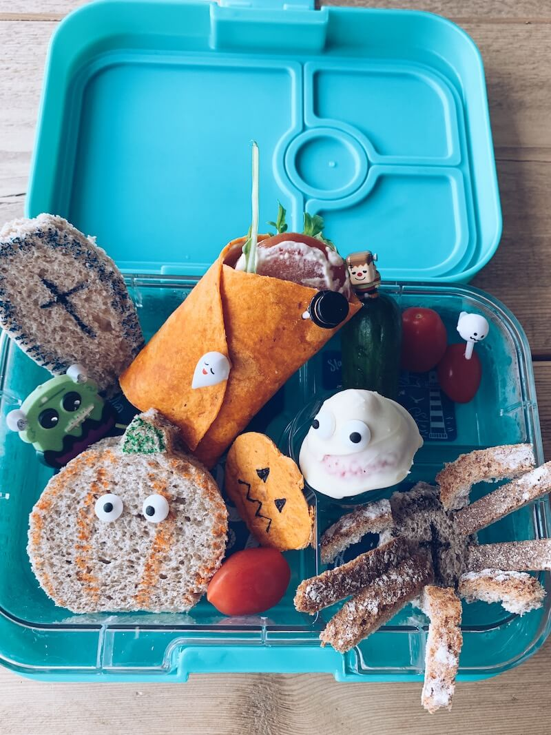 halloween bento lunchbox - unicorns & fairytales