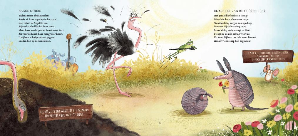 Stuisvogel en gordeldier Dan Brown het wilde dierenorkest - Boekentip waar muziek en ontdekking centraal staan:  Het wilde dierenorkest - Dan Brown