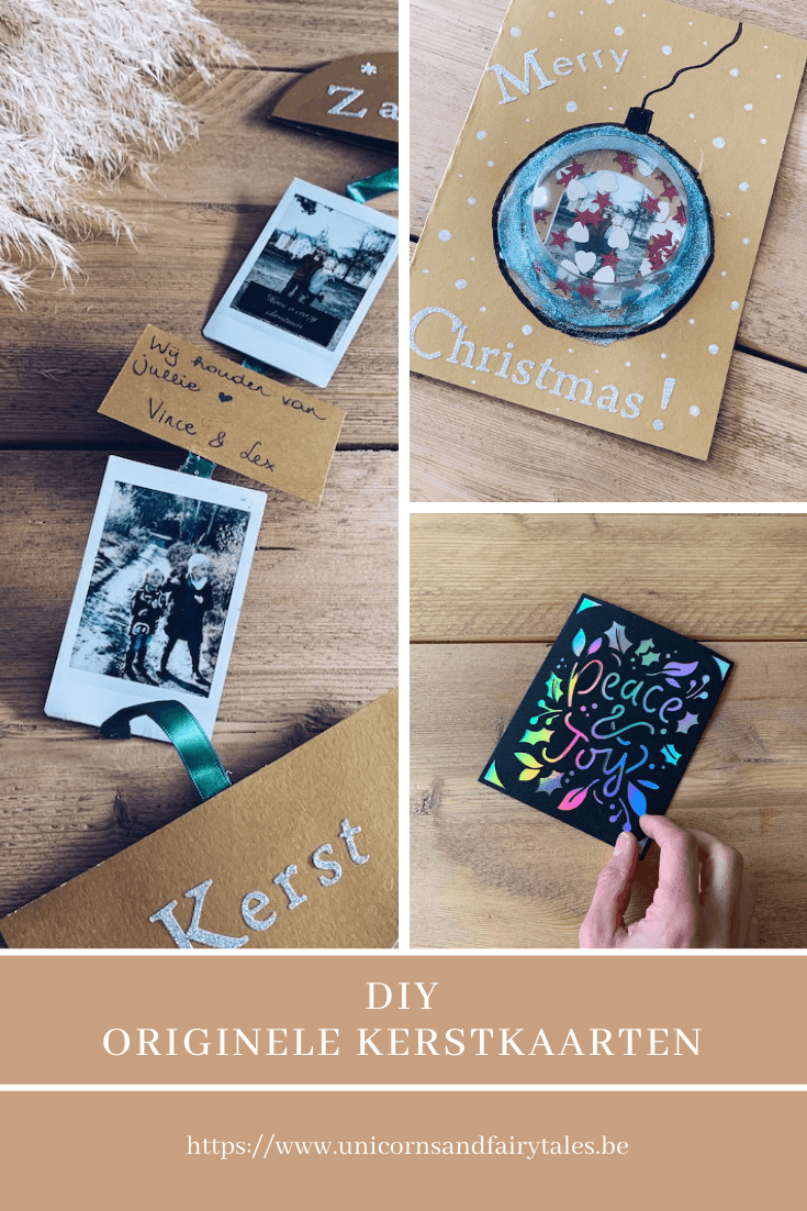 originele kerstkaarten - unicorns & fairytales