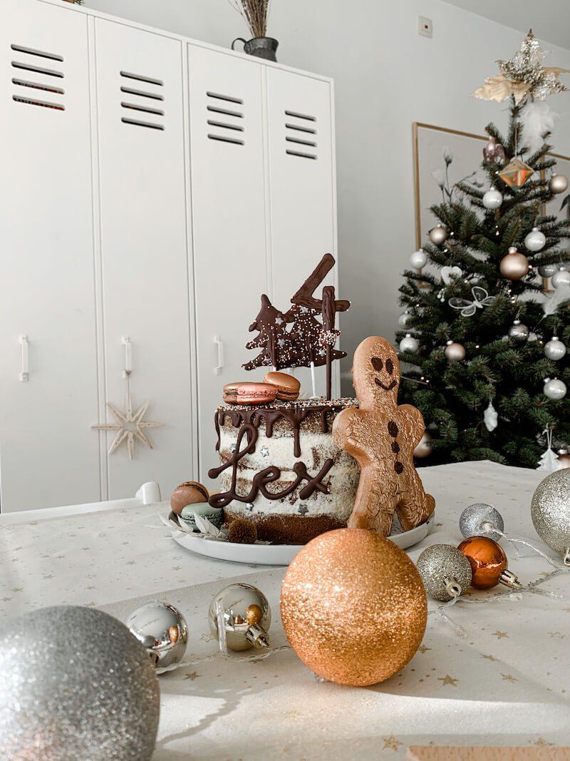 verjaardagstaart in kerstthema maken - unicorns & fairytales