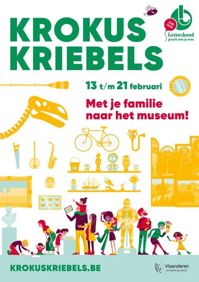 krokuskriebels met kinderen naar het museum - unicorns & fairytales