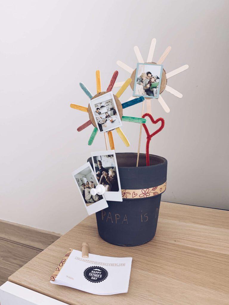 IMG 7248 768x1024 - Vaderdag cadeautip van de kinderen: gegraveerde magnetische bloempot en waardebonnen! + gratis printable