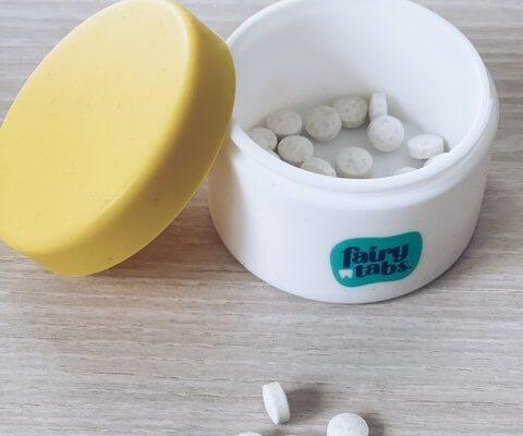 tandpasta tabletten voor kinderen - unicorns & fairytales