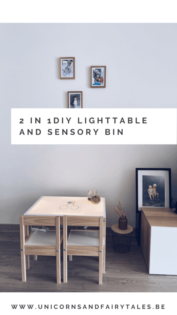 E7FE3A6B 500F 429C 9086 3553A04B6D96 576x1024 - DIY / Een lichttafel en sensory bak in één