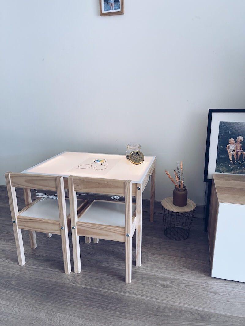 IMG 5638 - DIY / Een lichttafel en sensory bak in één